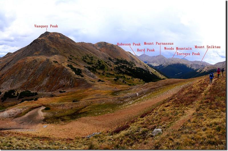 Mountain view from Vasquez Peak's west saddle (2)