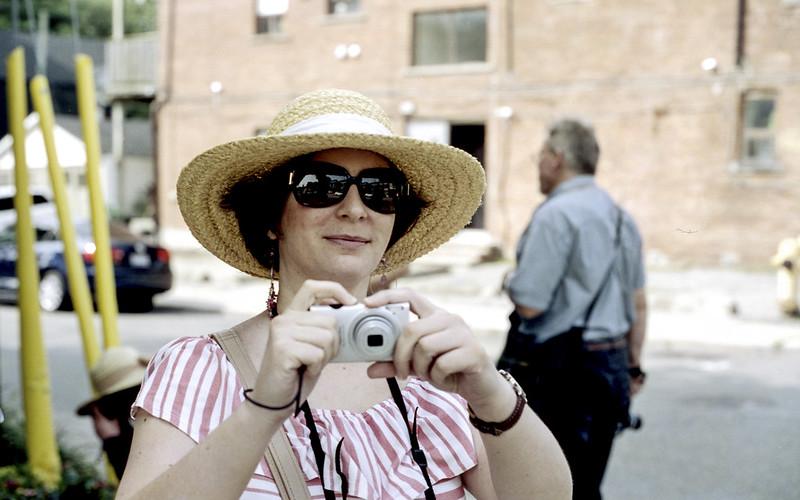 Jo-Anne W Getting Ready to Shoot