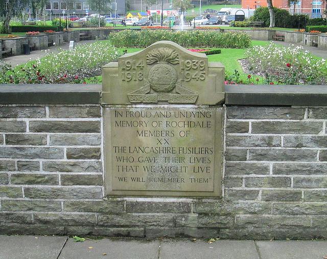 Rochdale Lancashire Fusiliers Memorial