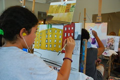 Teen Oil Painting class, Photo by Sarah Lubachevsky