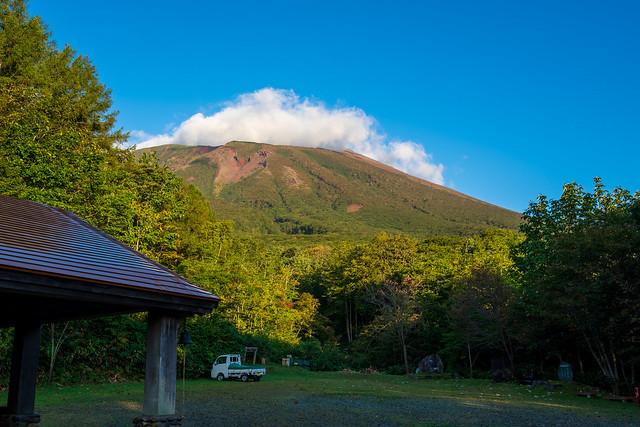 馬返しキャンプ場より岩手山