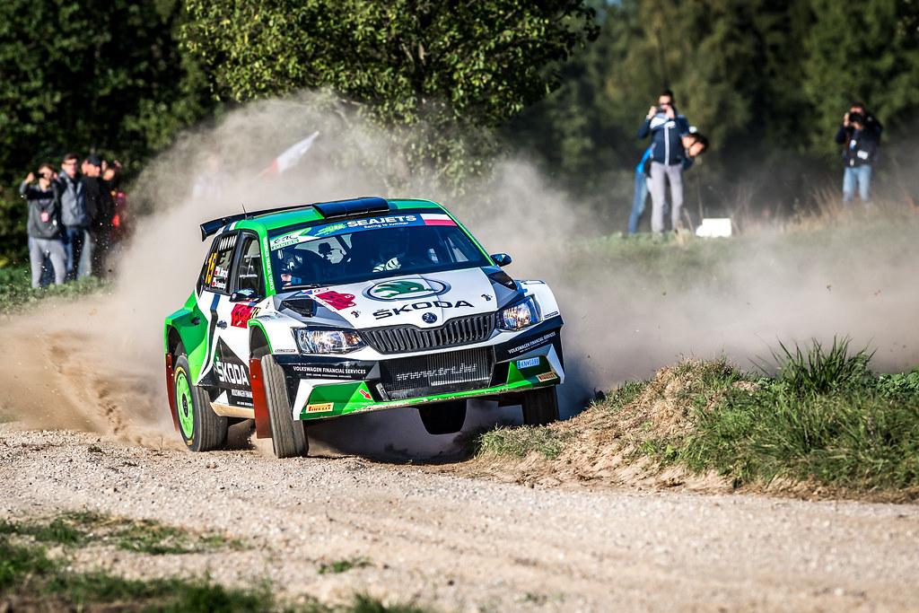 15 MARCZYK Miko (POL), GOSPODARCZYK Szymon (POL), SKODA POLSKA MOTORSPORT, Fabia R5, action during the 2018 European Rally Championship Rally Poland at Mikolajki from September 21 to 23 - Photo Thomas Fenetre / DPPI