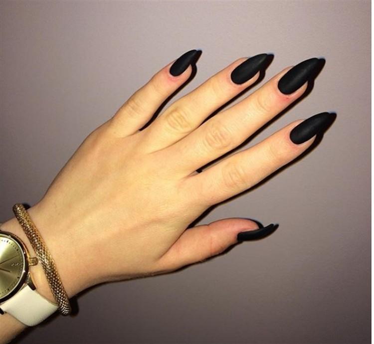 25+ Fabulous Black Matte Nail Art Designs Trendy Ideas