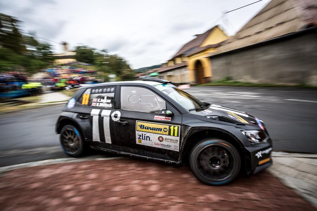 11 Ingram Chris, Whittock Ross, GBR/GBR, Toksport WRT, Skoda Fabia R5, Action during the 2018 European Rally Championship ERC Barum rally,  from August 24 to 26, at Zlin, Czech Republic - Photo Thomas Fenetre / DPPI