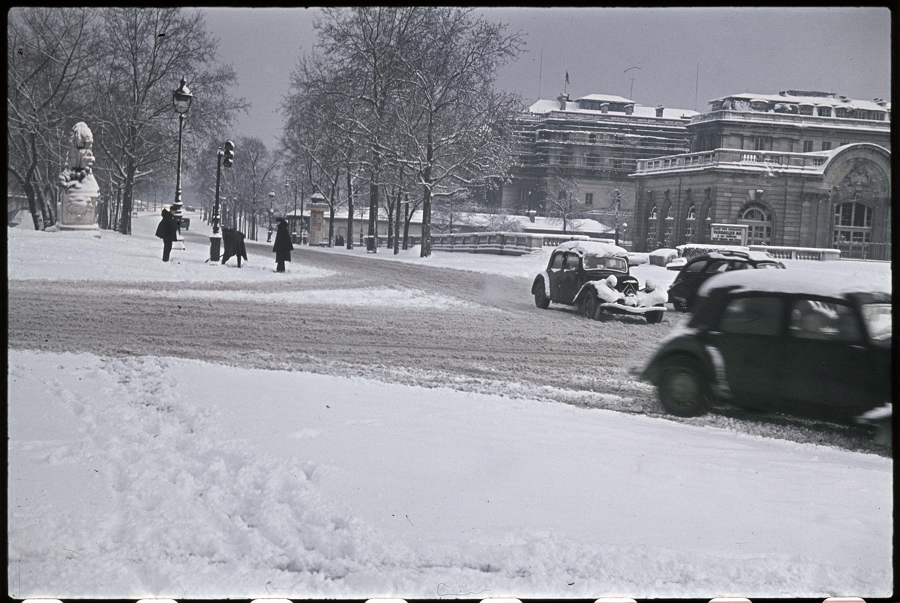 Набережная Орсэ зимой