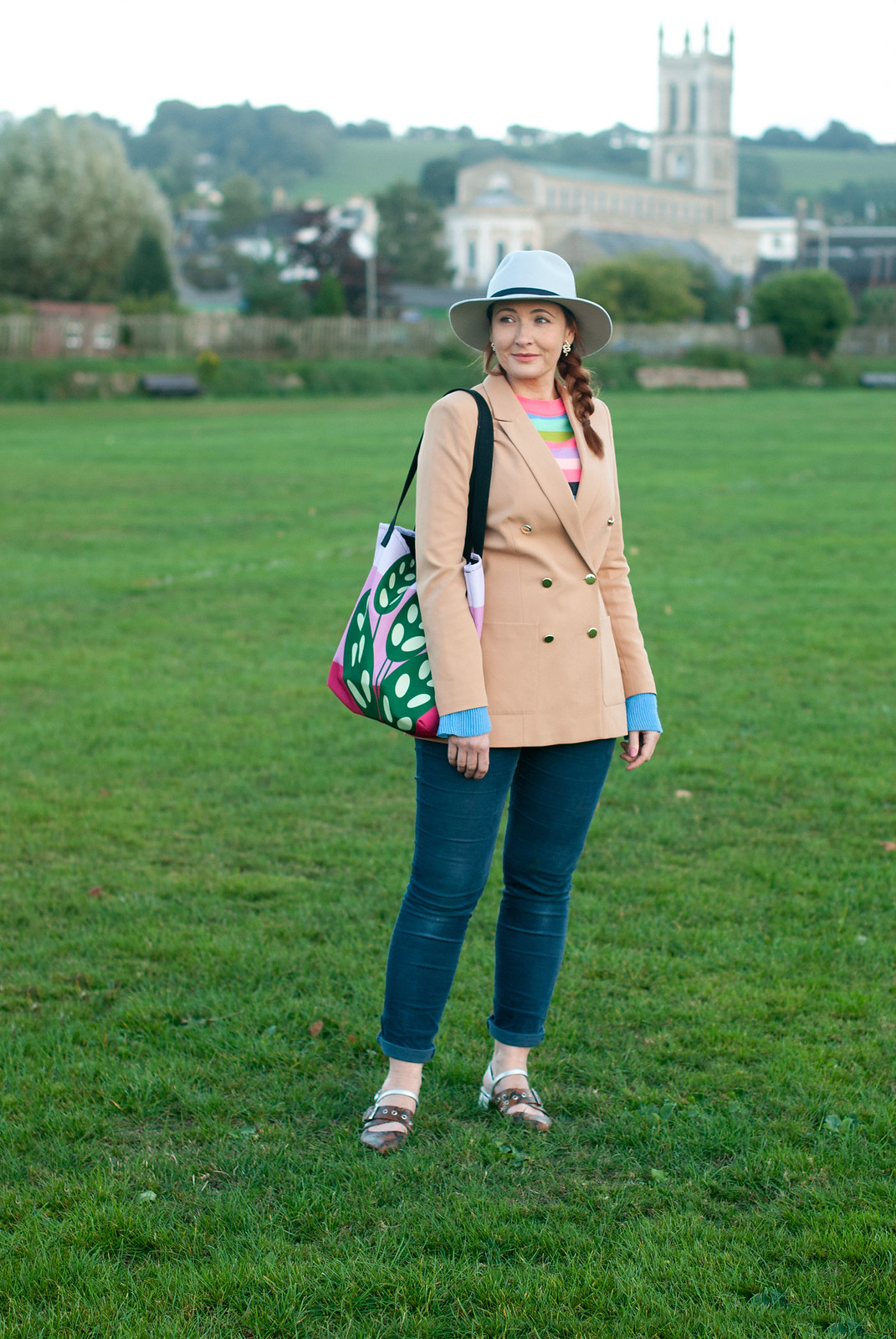 Smart Casual Autumnal Jeans and Blazer Outfit   Not Dressed As Lamb, over 40 style