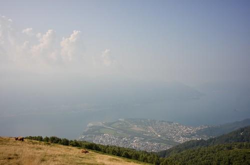 写真2 チメッタ山頂からマッジョーレ湖