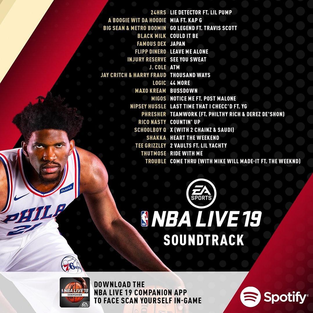 NBA Live 19 Soundtrack Listesi