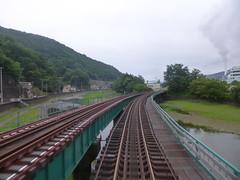 左手の線路は山田線 不通が続いていたが、2019年3月24日に再開予定