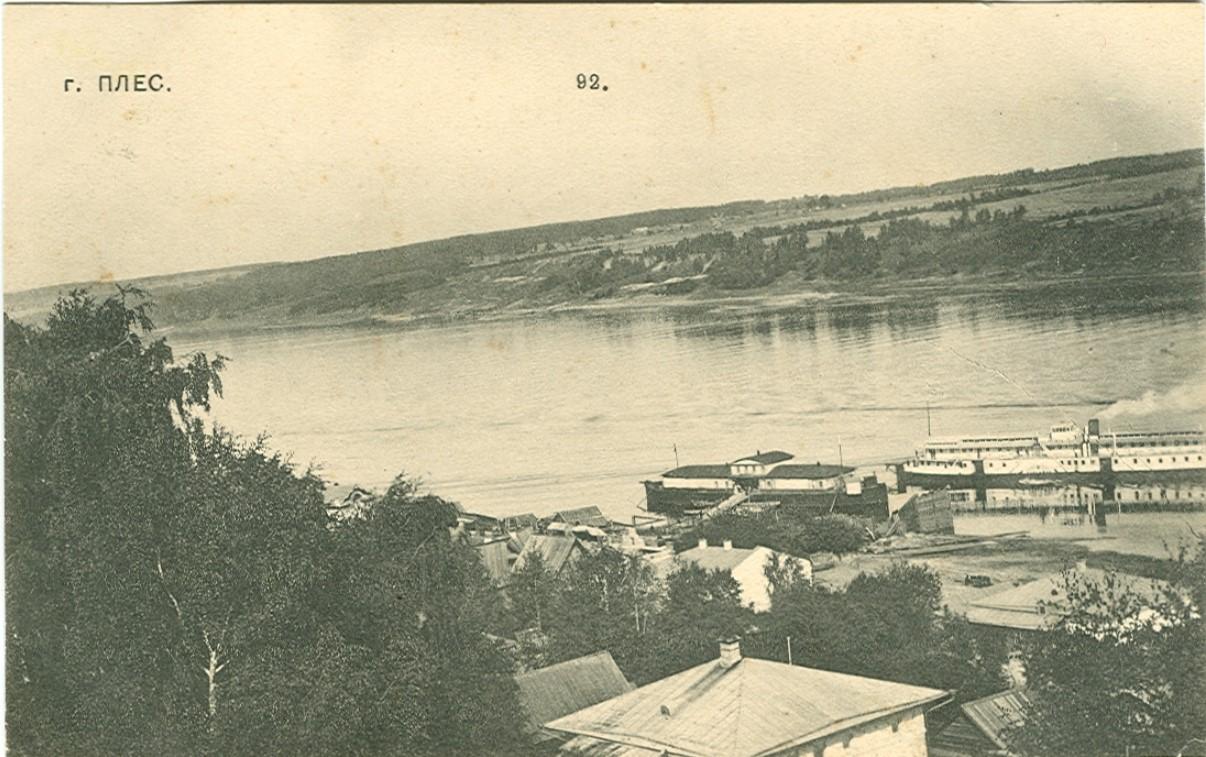 Прибытие парохода к пристани у верхних ледорезов