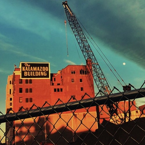 I already miss this view, my favorite Kalamazoo sign!  This is a great reminder that life is always under construction and we should embrace change.  Artist Bridget Fox