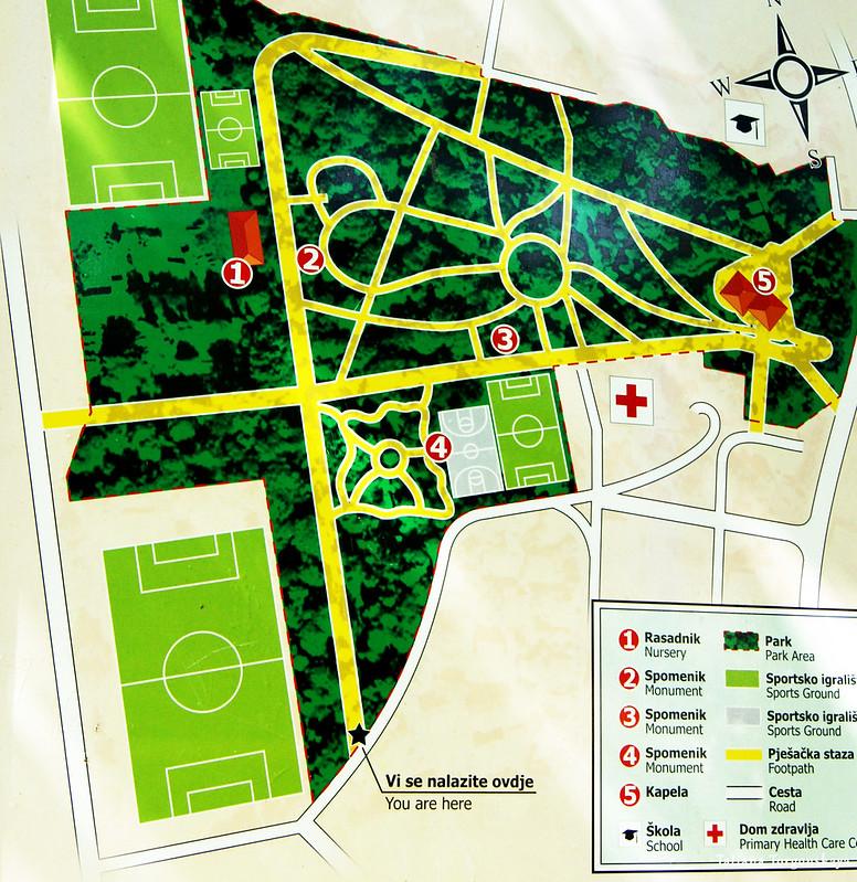Карта Городского парка