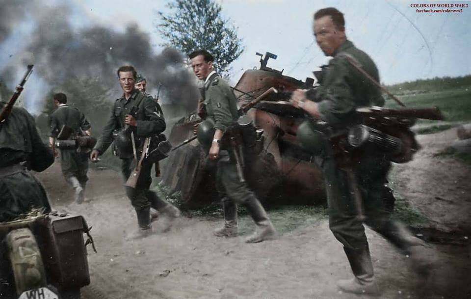 Shot the Germans. again, time, fire, only, cars, After, next, the enemy, When, so that, to the earth, immediately, after, succeeded, the English, when, between, which, now, point