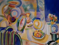 Robert Delaunay, Portuguese Still Life, 1916, Oil on canvas 8/7/18 #dallasmuseumart #artmuseum