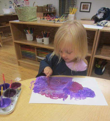 one of many purple paintings