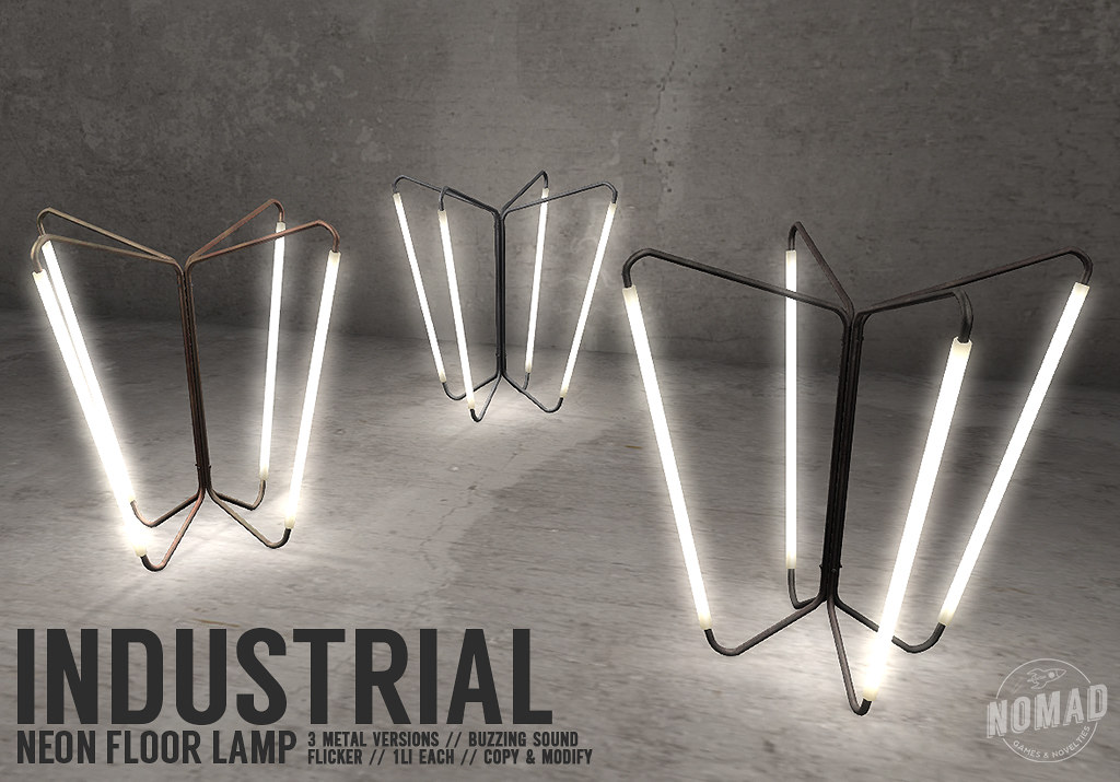 NOMAD // Neon Floor Lamp @ FLF - TeleportHub.com Live!