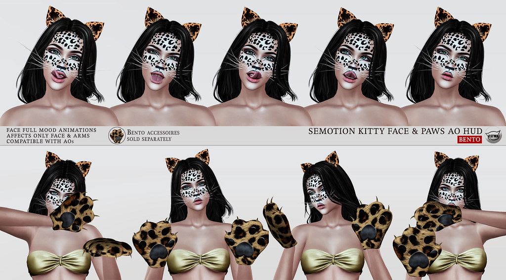 SEmotion Kitty Face & Paws Mood AO HUD