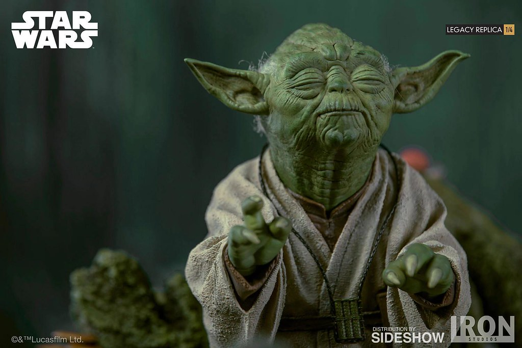 用心去感受原力吧~ Iron Studios Legacy Replica 系列《星際大戰》尤達 Yoda 1/4 比例全身場景雕像作品
