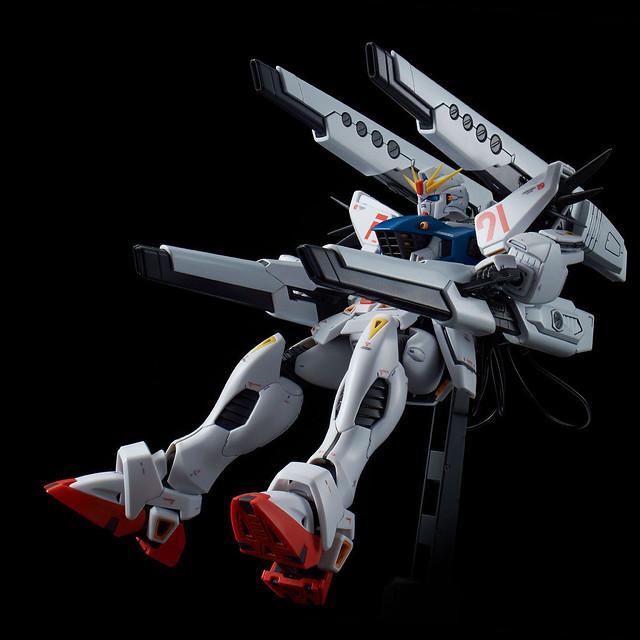 MSV夢幻武裝登場!MG 1/100《機動戰士鋼彈F91-MSV》鋼彈F91 Ver. 2.0 背部加農砲裝備型&雙V.S.B.R.裝備型【PB限定】