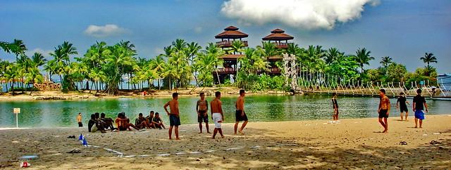 Singapore Sentosa Island, Palawan Beach