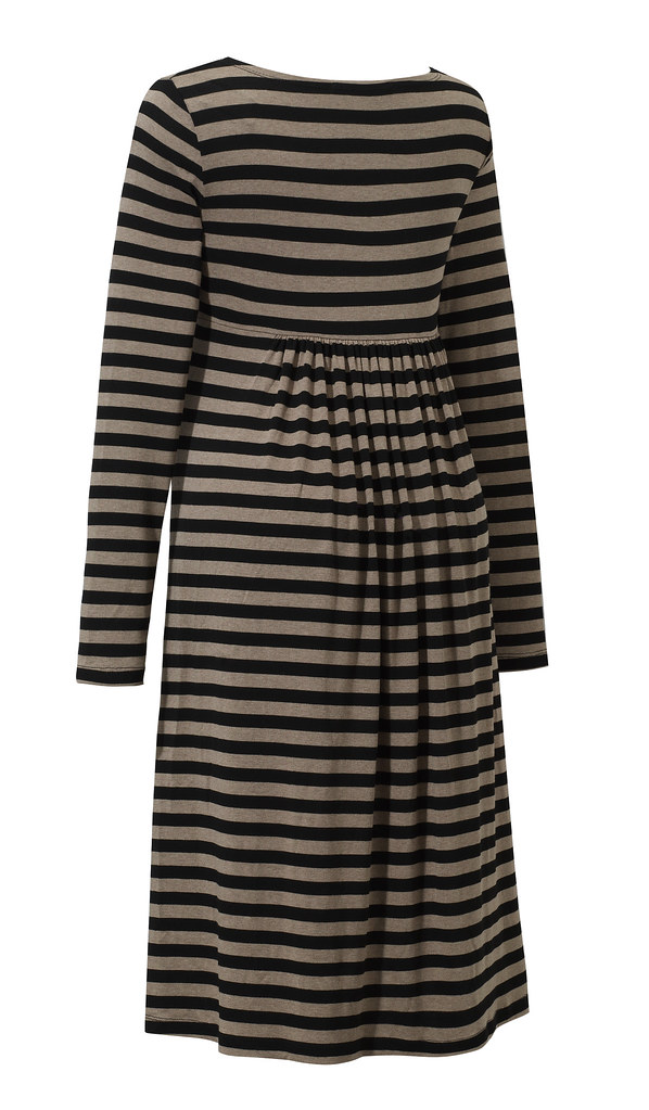 Salsa dress beige stripes back