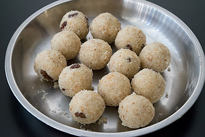 Rava Laddu cooking steps by GoSpicy.net