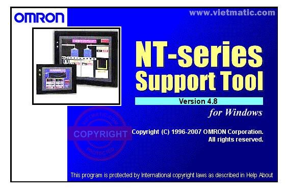 Phần mềm lập trình giao diện HMI Omron NTS cho Windows V4.8