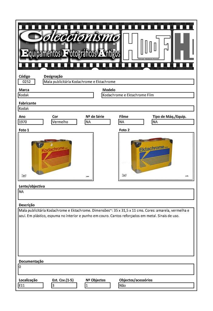 Inventariação da colecção_0252 Mala publicitária Kodachrome e Ektachrome Briefcase