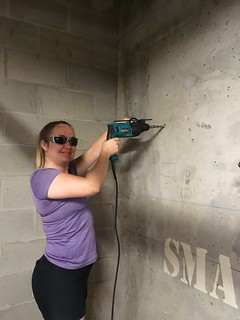 Beth with a hammer drill