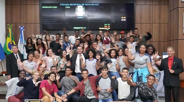 Projeto Escola no Legislativo - Educar é Lei - CIEP Brizolão 216 Prefeito Juarez Antunes