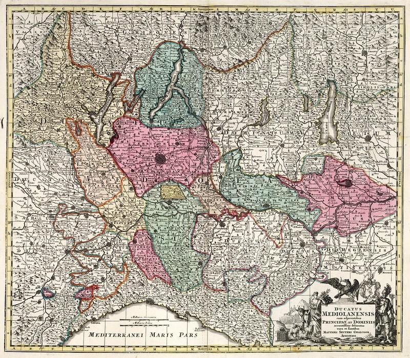Matthaeus Seutter - Ducatus Mediolanensis cum adjacentibus Principat. et Dominiis (1729)