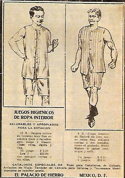 Mexico City 1920's - Hygienic Men's Underwear