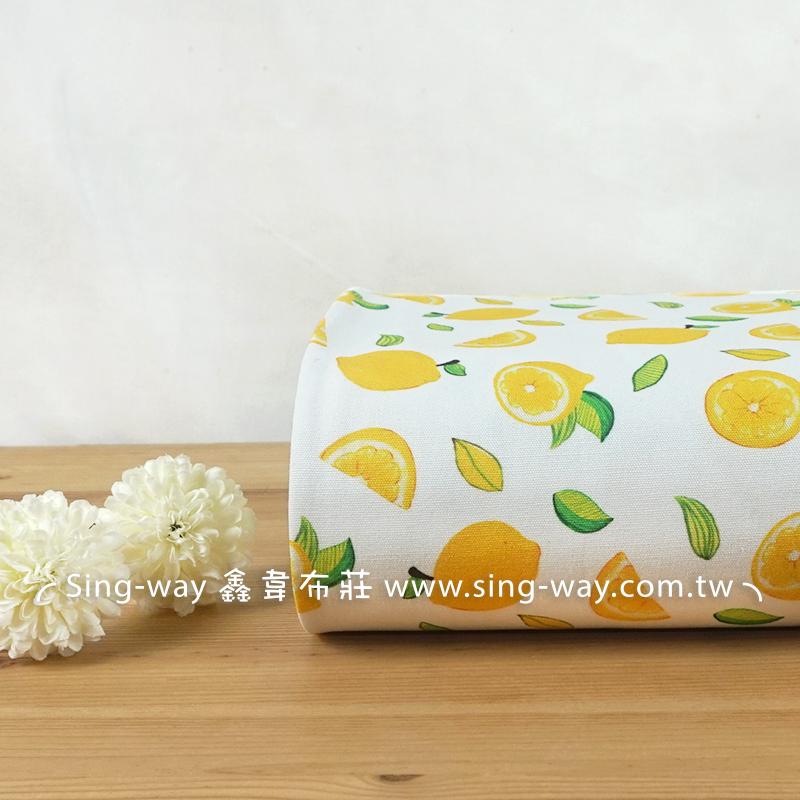 獨家新款 清新檸檬 水果 萊姆 田園風 Lemon 手工藝DIY布料 CA990031