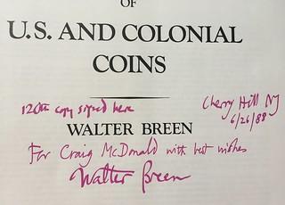 Breen inscription to Craig McDonald