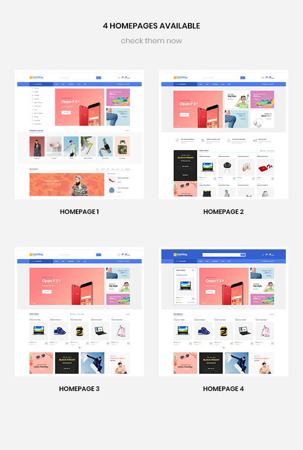 multi homepages