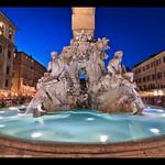 Gian Lorenzo Bernini's Four Rivers Fountain in Piazza Navona, Rome, Italy - https://www.flickr.com/people/36385235@N08/