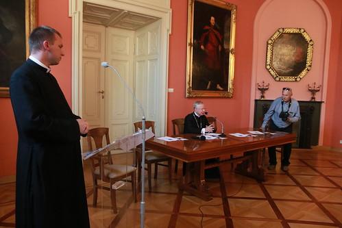 Konferencja Prasowa nt. 40-lecia pontyfikatu Jana Pawła II   Abp Marek Jędraszewski, 17.09.2018