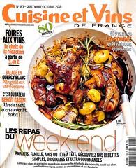 Cuisine et vin de France - Septembre octobre 2018
