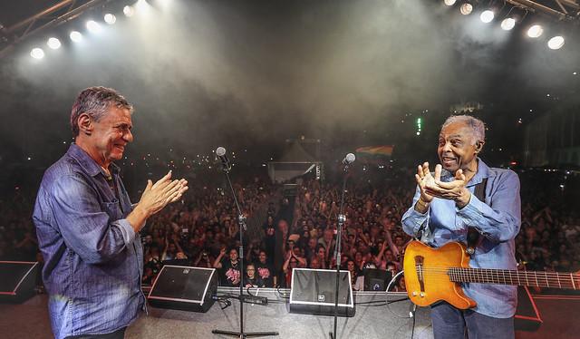 Gilberto Gil e Chico Buarque realizaram apresentação histórica na edição carioca do Festival Lula Livre - Créditos: Foto: Ricardo Stuckert