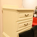 Cream painted locker