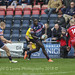 Tyson Lewis sets up Cameron Cowell by darwing Hartpury winger Ed Sheldon-8728