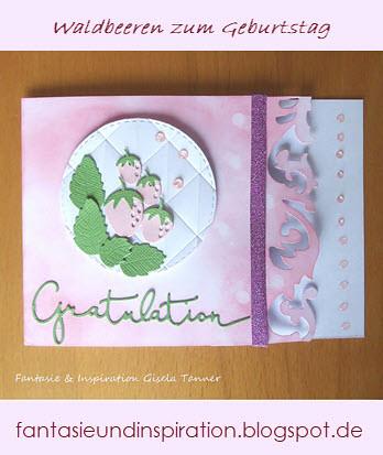 Geburtstagskarte mit Beeren