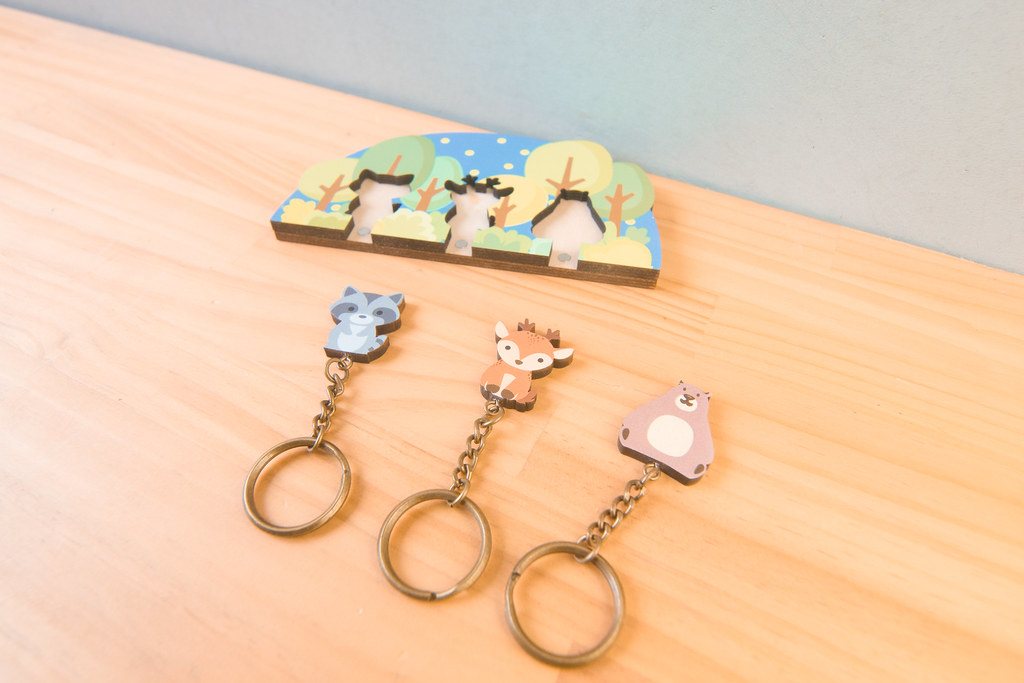 鑰匙圈 客製化 禮物 特色產品 居家 台灣設計 森林 麋鹿 浣熊 熊 家庭 生日 情人節 動物 療癒 聖誕節 收納