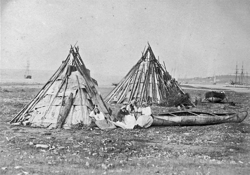 Mi'kmaq encampment, Sydney, Cape Breton Island, Nova Scotia