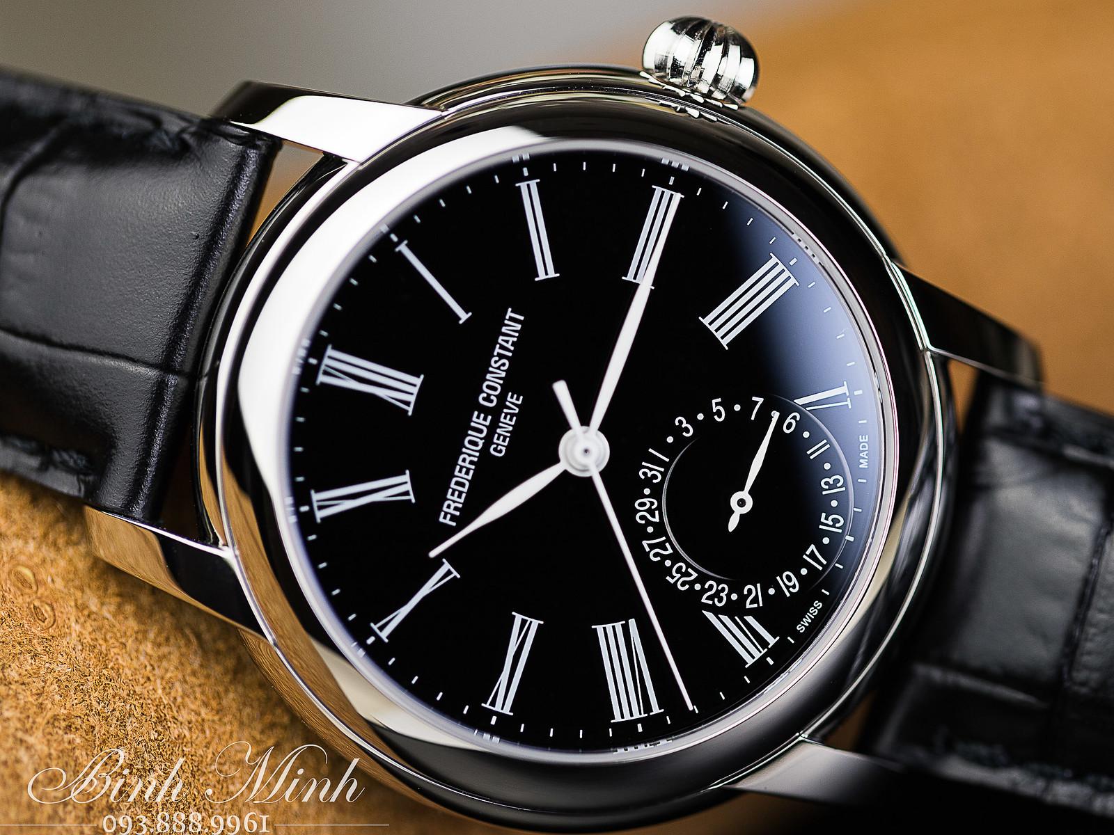 Đồng hồ Frederique Constant Manufacture Classic máy inhouse giá siêu tốt, mặt đen, mới 100%