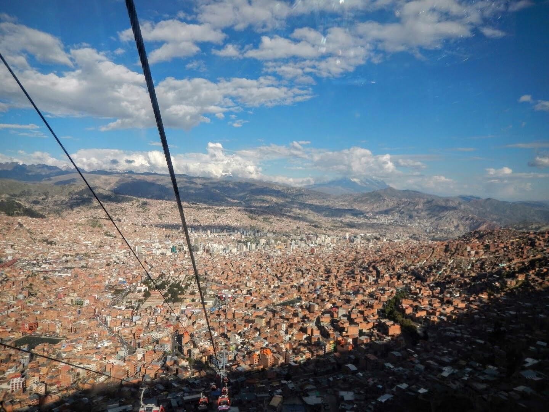 La Paz from the Teleferico