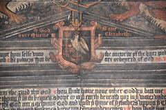 O God Save our Quene Elizabeth (detail, Elizabeth I royal arms, 1587)