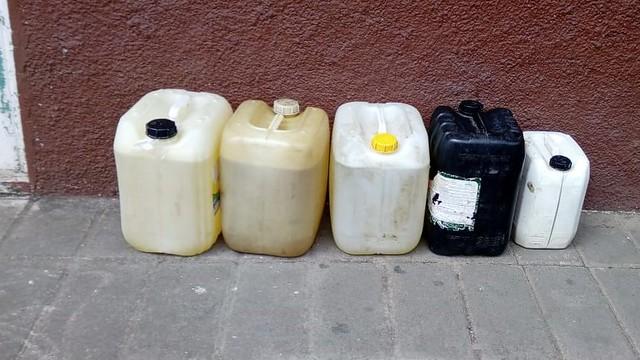 garrafas taxi huachicol