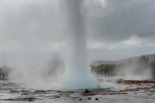 Geysir eruption in Strokkur