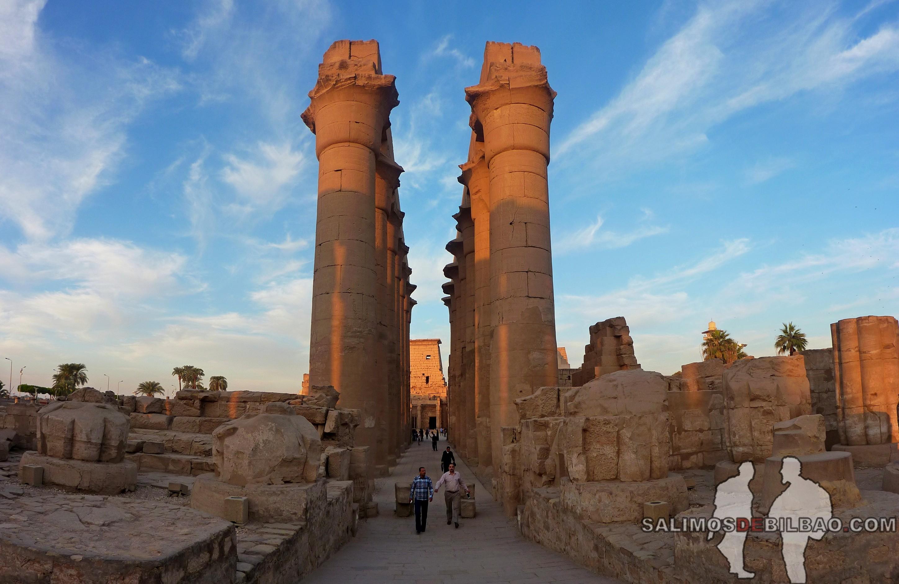 0717. Pano, Templo de Luxor